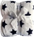 Tempo Kondela Pătură cu două feţe imitaţie miel, model steluţe, 150x200, SEOLA Patura