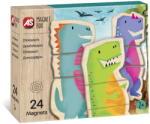 As Cutie Universul Dinozaurilor Cu 24 Piese Din Lemn Si Magnetice (1029-64043)