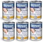 Bosphorus BOSPHORUS CAT FOOD with CHICKEN GRAIN FREE - КОМПЛЕКТ 6 бр консерви за котки с вкусно, прясно пилешко БЕЗ ЗЪРНО, 6 x 415 гр Турция (rusi BOSPHORUS CAT FOOD with CHICKEN GRAIN FREE консерва 6x415гр)
