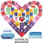 Durex Deluxe Maxi Package - 55 Durex Condoms, Pasante and Vitalis + Lubricant + Vibrating Ring