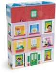 Tender Leaf Cuburi din lemn viață în casă Dream house Blocks Tender Leaf Toys cu imagini vopsite detailat cu 12 bucăți de la 18 luni (TL8468)