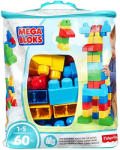 Mega Bloks Set Fisher-Price Cuburi Colorate de Construit Mega Bloks 60 de piese (DCH55)