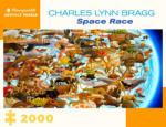 Pomegranate Пъзел Pomegranate от 2000 части - Космическа надпревара, Чарлс Лин Браг (AA1079)