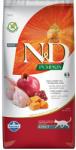 Farmina N&D Cat Pumpkin Quail & Pomegranate Adult - пълноценна храна за котки в зряла възраст с пъдпъдък, тиква и нар; без зърно 5.00 кг