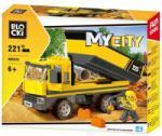 Klocki BLOCKI Joc constructie Camion cu bena, 221 piese, Blocki RB29696
