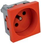 Kopos Quadro moduláris 2P+F Francia dugalj piros (2 modulhely), QP 45X45 BB Kopos (QP45X45BB)