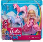 Mattel Barbie - Dreamtopia Chelsea hercegnő és unikornis csikók (GJK17)