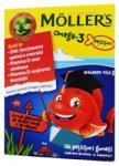 MOLLER'S Omega 3 și vitamina D jeleuri peștișori cu aroma de lămâie verde și căpșuni, 36 buc, Moller' s