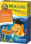 MOLLER'S Omega 3 și vitamina D, jeleuri peștișori cu aromă de lămâi și portocale, 36 buc, Moller' s