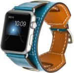 iUni Okosóra szíj, Apple Watch 38 mm, Bőr, 4 az 1-ben, Kék (504013)