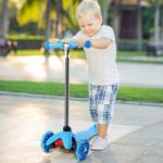 3 kerekű gyerek roller, kék - 50szazalek