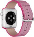 iUni Apple Watch 42mm nylon szíj, szövött heveder, Eletromos Rózsaszín (503382)