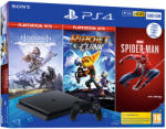 Sony PlayStation 4 Slim 500GB (PS4 Slim 500GB) + PS Hits: Horizon Zero Dawn + Ratchet & Clank + Marvel Spider-Man Конзоли за игри
