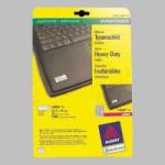 Zweckform Етикети СЗЛ за лазерни принтери 25.4х10мм. сребристи (1)