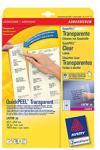 Zweckform Етикети СЗЛ за лазерни принтери прозрачни 4770 45.7х25.4мм (1)