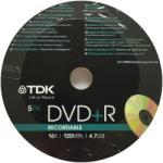 TDK DVD-R TDK Recordable 4.7GB 120min 16X SHR5 EOL 5buc (TDK-DVD-R-5PK)