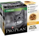PRO PLAN Hrana umeda pentru pisici, Pro Plan, Sterilised Nutrisavour, Pui, 10x85g