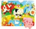 Bigjigs Toys Дървен пъзел Bigjigs - Ферма с животни (BJ326) - ozone