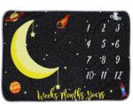 drool Paturica Milestone plusata pentru fotografii memorabile Luna neagra (2lun2) Lenjerii de pat bebelusi, patura bebelusi