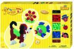 Hama - Set margele de calcat Animale 900 buc, In cutie de cadou mare Maxi (Ha8712)