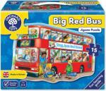 Orchard Toys Детски пъзел Orchard Toys - Големият червен автобус, 15 части (OR249)