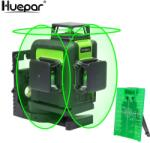 Huepar 903CG - 12 vonalas, 3D (3x360°) zöld szintező lézer (hue-903cg)