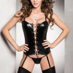Passion Lingerie Секси корсет в черен цвят