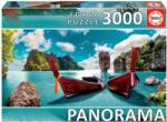 Educa Панорамен пъзел Educa от 3000 части - Изглед от Пукет, Тайланд (18581)