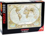 Anatolian Пъзел Anatolian от 2000 части - Карта на света, Джей Саймънс (3935)