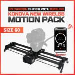 KONOVA P1 KMS-S3 Wireless Motorized Carbon Slider 60 cm + Parallax + Timelapse