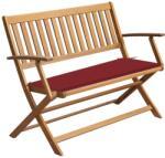 vidaXL Bancă de grădină cu pernă, 120 cm, lemn masiv de acacia (3064248)