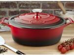 La Cuisine Red öntöttvas ovál sütőtál fedővel 29cm 4, 75 literes - 6100