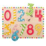Bigjigs Toys - Дървен пъзел - Цифри - От 0 до 9 - kidsplace