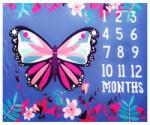 drool Paturica Milestone subtire pentru fotografii memorabile Fluture mov (drl12sb) Lenjerii de pat bebelusi, patura bebelusi