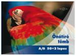 Pd önátírótömb A6 50x2 lapos vegykezelt papagáj mintás