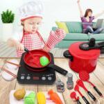 Malatec Accesorii pentru bucatarie copii, 44 piese, tacamuri, alimente, oala, design realist Bucatarie copii