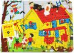 Pippi Дървен пъзел с дръжки Pippi - Пипи Дългото чорапче, 12 части (44379100)