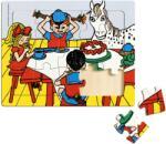 Pippi Дървен пъзел в рамка Pippi - Пипи Дългото чорапче, 15 части (44378300)