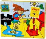 Pippi Дървен пъзел Pippi - Пипи Дългото чорапче, 12 части (44378200)