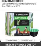 La Capsuleria Ceai verde matcha, menta si lemn dulce, 16 capsule compatibile Dolce Gusto (CP-39-6001)