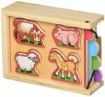 Melissa & Doug Комплект дървени пъзели Melissa & Doug - 4 броя, с животни (14790)
