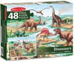 Melissa & Doug Пъзел за под Melissa & Doug - Динозаври, 48 части (10421)
