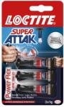 LOCTITE Super Attak Power Flex Mini Trio pillanatragasztó 3x1g