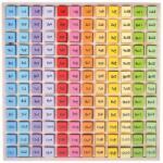 BigJigs Tabla inmultirilor, 185 piese, 23.5 x 23.5 x 2 cm, 3 ani+ (BJ210)