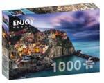 ENJOY Puzzle Puzzle Italy: Manarola at dusk, Cinque Terre, 1000 piese (Enjoy-1077) Puzzle