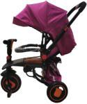L Sun Tricicleta copii pliabila, 6-36luni, pozitie de somn, muzica si lumini, frane roti, mov, GZ20 (tx019tr-mov)