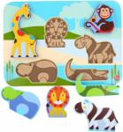 LUCY&LEO 224 animale Safari - puzzle din lemn 7 piese (MA9-LL224)