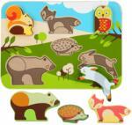 LUCY&LEO 225 Animale de pădure -Jigsaw puzzle din lemn 7 piese (MA9-LL225)